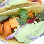 Vegetarische taco's met pompoen en guacamole