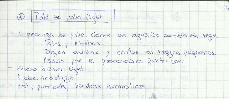 PATE DE POLLO LIGHT   #SALADO #COCTEL #COCTEL #POLLO
