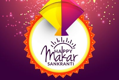 Makar Sankranti Background Colorful Kite Hd Wallpaper