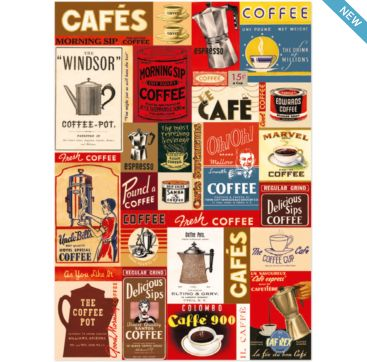 Coffee - wrapping paper from Cavallini & Co. Available at Bobangles.