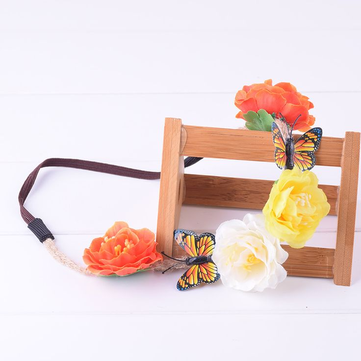 Butterfly Camellia Flower Elasticity Floral Headband Hairstyles Headwrap Floral Crown Wedding Women Girl Christmas Photography #WeddingHairstyles