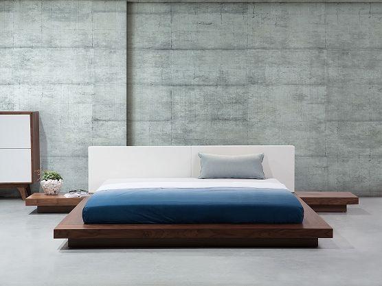 Bett Hellbraun - Doppelbett 180x200 cm - Ehebett - Futonbett - Japan Design - ZEN ✓ Kauf auf Rechnung mit 365 Tage Rückgaberecht