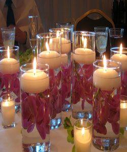 centros de mesa para 15 a os con botellas de vidrio