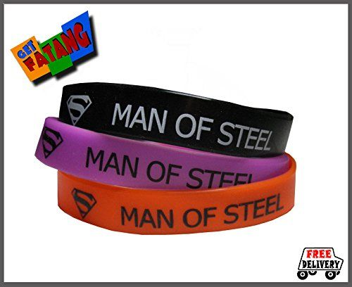 Get Fatang Superman - Man of Steel Wristband (Silicone Gel Bracelet) Set of 3 - Black, Purple & Orange Get Fatang http://www.amazon.in/dp/B00J36RNPC/ref=cm_sw_r_pi_dp_Hwq3tb0EKPPG5BY9