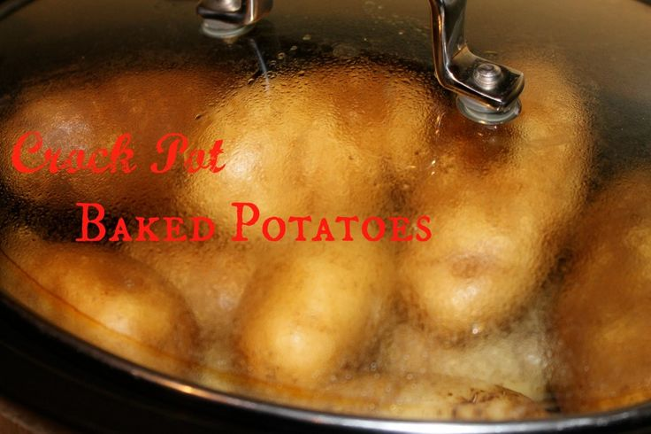 Crock Pot Baked Potatoes Without Foil: I tried this today and it worked perfectly.