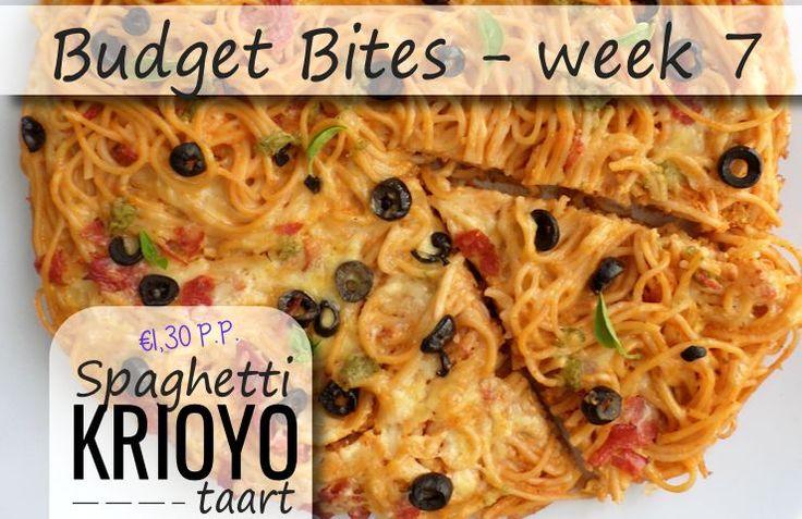 Deel 7 van onze budget bites is hier! Een lekker recept onder de €2,- p.p. (in dit geval slechts €1,30!) Deze hartige taart is snel klaar, heel erg lekker en súpergoedkoop! We hebben de spaghetti in dit recept een Caribische smaak gegeven door het gebruik van 'n lekkere Krioyo-saus. Je kookt voor dit recept eerst …