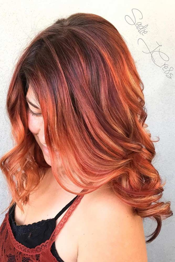 Best Red Ombre Hair Color Ideas for Long Haïti ★ See more: http://glaminati.com/red-ombre-hair-color-ideas-long-hair/