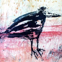 Bronwyn Rees etching will feature in the upcoming Firestation Retrospective Show celebrating 21 years of joyful printmaking