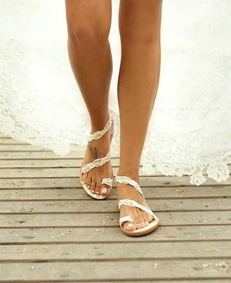 5705727dc68a Handmade to order  lace sandals  bridal sandals  wedding shoes ...