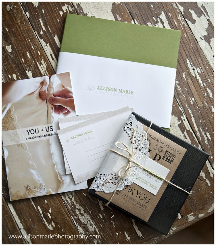 selling 'my brand'... and LOVE this lady's packaging!!  allison marie photography
