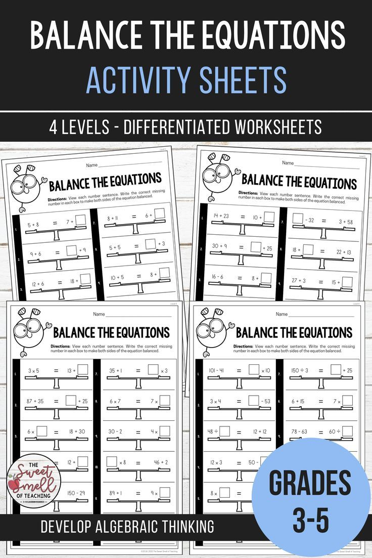 Balancing Equations Equivalent Number Sentence Activities Middle School Math Resources Sentence Activities Math Resources Balancing addition equations game