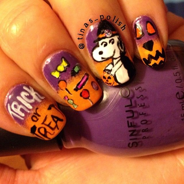 121 best peanuts ooooiny nails images on pinterest snoopy halloween nails more prinsesfo Gallery