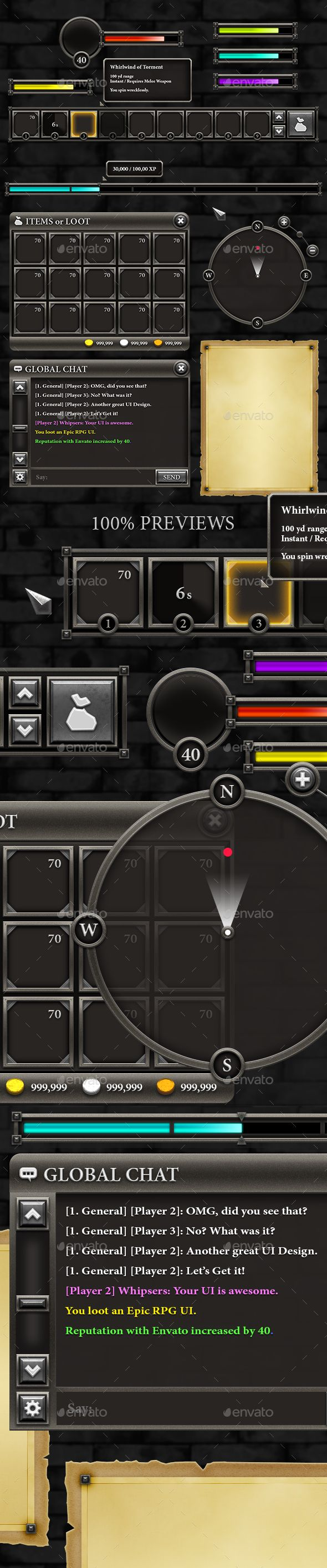 RPG User Interface Download here: https://graphicriver.net/item/rpg-user-interface/15889405?ref=KlitVogli