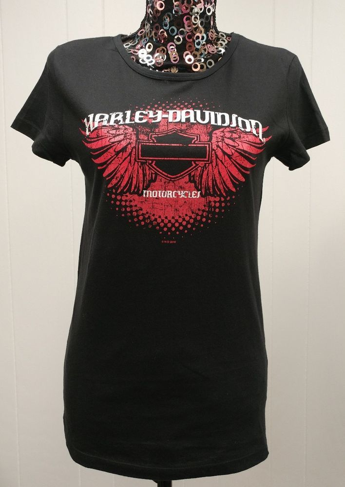 Details About Harley Davidson T Shirt Sz M Nwot Black W Red White H D Logo Tee Shirt Harley Davidson T Shirts Tee Shirts Tees