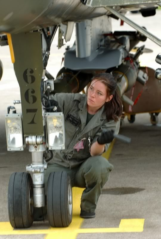 Air Force - Women in uniform. Anything a man can do, a woman can do better ;)