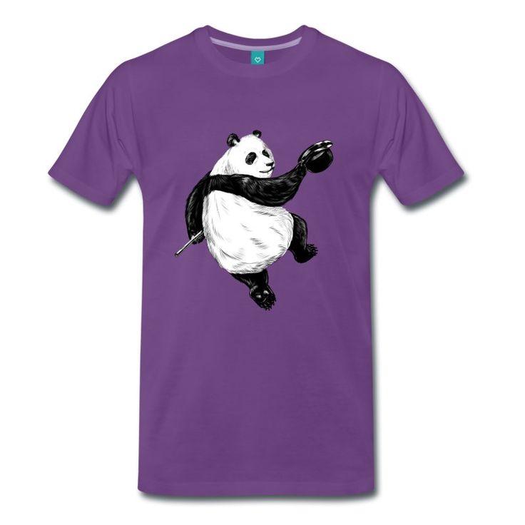Kelly grønn Dancing Panda T-skjorter - Premium T-skjorte for menn