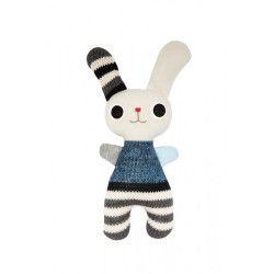 Micky & Stevie Funny Bunny Blue Striped Toy