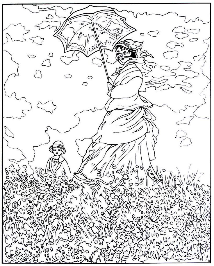 Best Great Works Art Coloring Book Pages