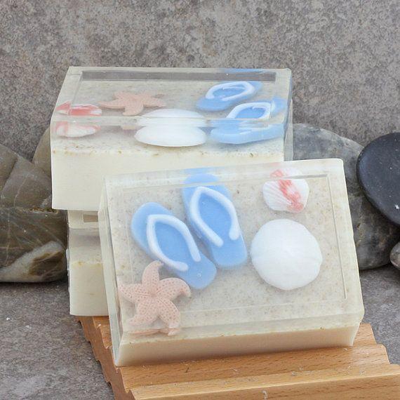 Beaches Handmade Glycerin Soap Bar  Underwater Beach Theme by Alaiyna B. Bath and Body
