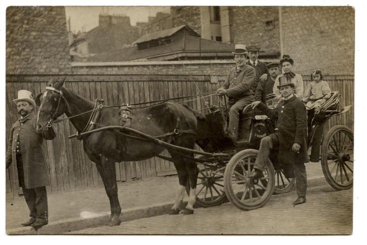 PHOTO CARTE.CHEVAL.HORSE.CHEVAUX.HORSES.ATTELAGE CABRIOLET CART.HARNESS.CALèCHE. | Collections, Cartes postales, Thèmes | eBay!