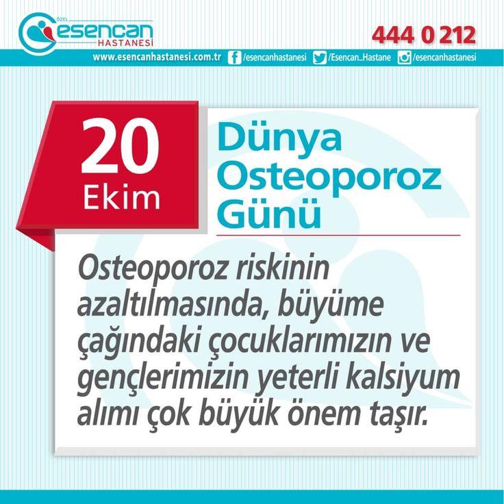 Osteoporoz riskinin azaltılmasında, büyüme çağındaki çocuklarımızın ve gençlerimizin yeterli kalsiyum alımı çok büyük önem taşır.