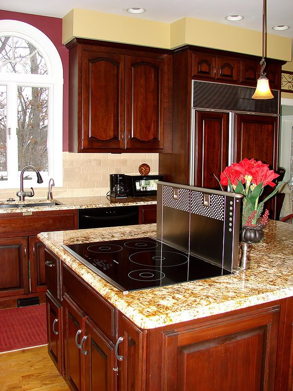 Kitchen Island Cooktop Designs