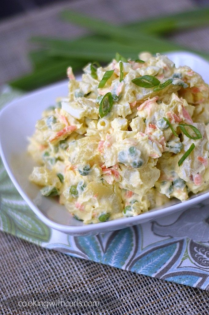 Traditional Hawaiian Potato Salad | cookingwithcurls.com