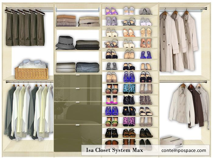 Isa Closet System Max: Awesome Closet System For Walk In Closets Or Big  Built Ins