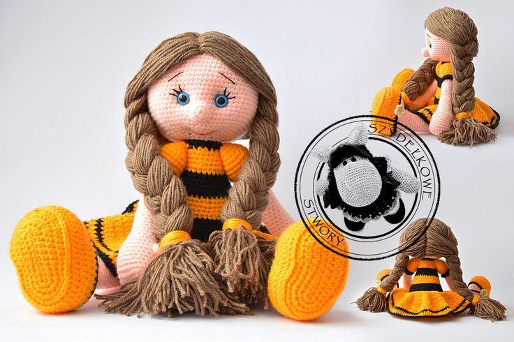Agnieszka Mężyk, Szydełkowe Stwory, lala Maja www.polandhandmade.pl #polandhandmade #crochet #amigurumi