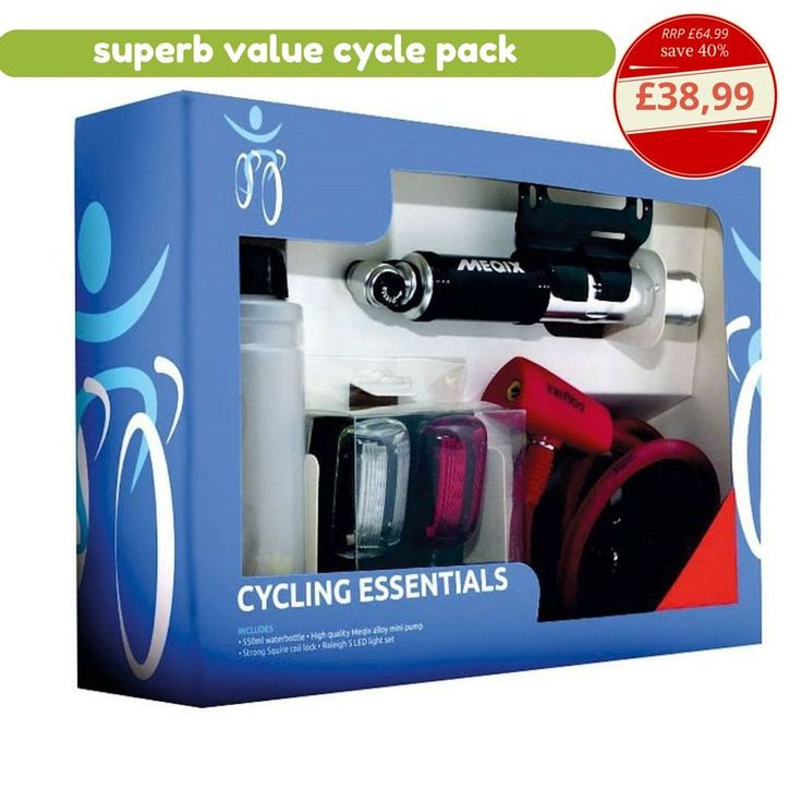 Cycling Accessories Pump Light Set Bottle Water Cable Lock Ideal Cycle Gift Pack #CyclingAccessoriesPump