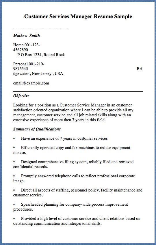 sample call center resume customer service call center resume - Customer Service Manager Resume