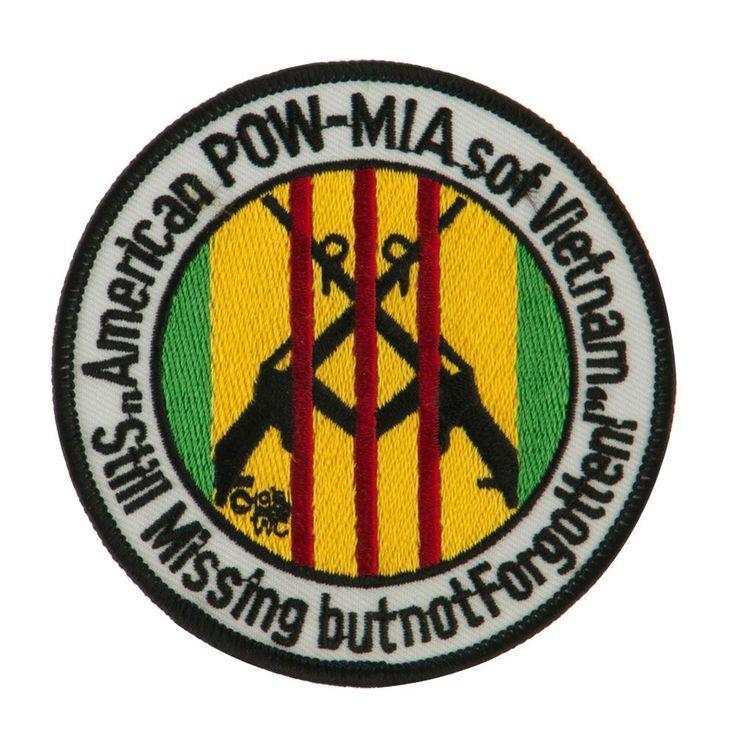POW MIA Military Large Patch Circle POWMIA W03S11E in