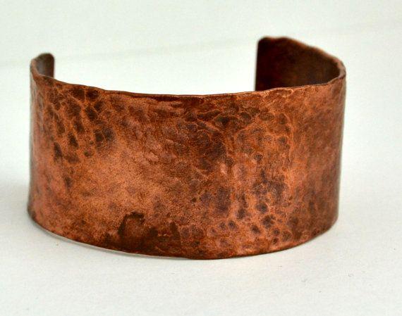 Copper pipe cuff bracelet in multiple sizes