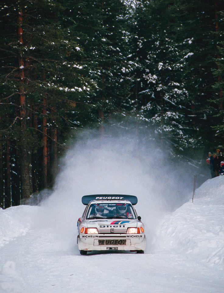 Juha Kankkunen/Juha Piironen. Rally Sweden 1986