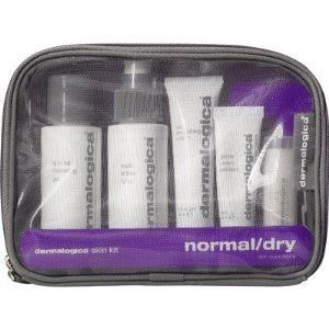 Dermalogica - NORMAL/DRY SKIN KIT - 0.6 OZ by Dermalogica. $30.00. Cleanse with Special Cleansing Gel to thoroughly remove impurities without disturbing the skin's natural moisture balance. Spritz on critical hydration with Multi-Active Toner, with Aloe and Balm Mint to soothe the skin. Prevent the appearance of fine lines caused by dehydration with Skin Smoothing Cream. Gentle Cream Exfoliant, containing alpha hydroxy Lactic Acid, beta hydroxy Salicylic Acid and...