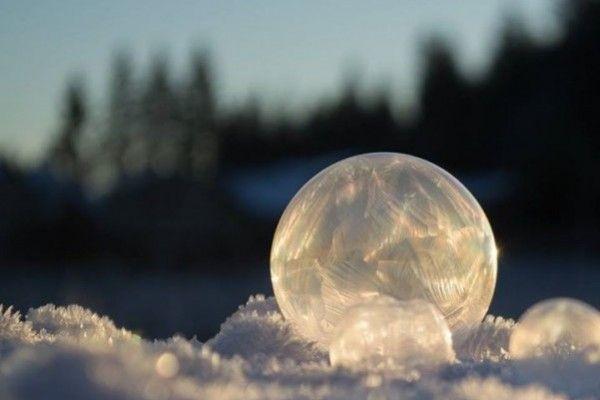 Imperdibles: La belleza de las burbujas congeladas. Foto: Facebook