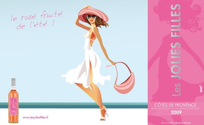 7 best vin les jolies filles images on pinterest cute girls bottle and posters. Black Bedroom Furniture Sets. Home Design Ideas