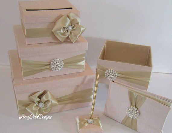 Wedding Money Box Set includes guest book by LaceyClaireDesigns, $219.00