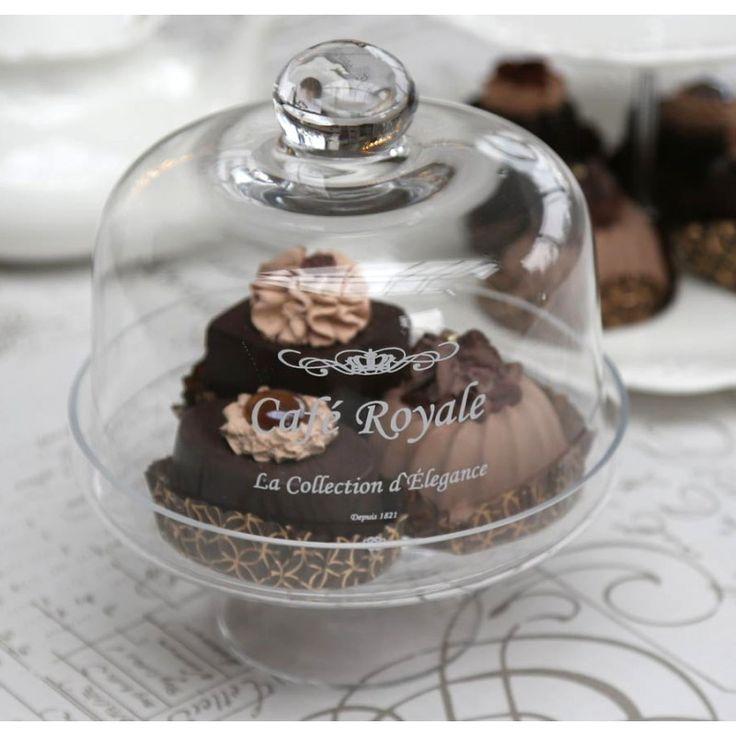 szklana patera z kloszem #glass #plateau #beautiful #cupcake #muffins #sweets #chic #elegant