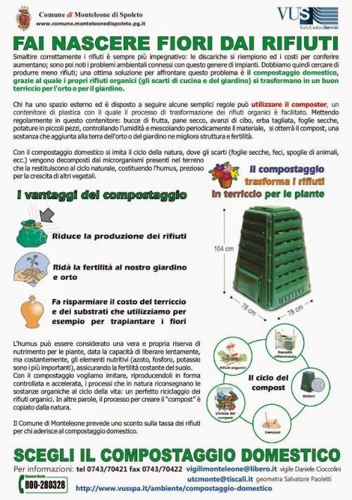 Ruscio, Monteleone di Spoleto e il COMPOSTAGGIO sono attivi