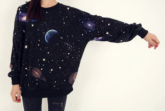 cosmic space galaxy star print sweatshirt tshirt by ZulamimiLand
