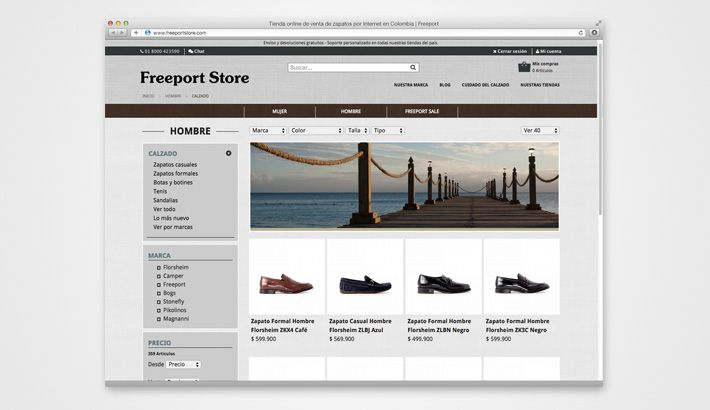 Conoce nuestro último trabajo, Freeport Store el mejor #ecommerce de Colombia http://s.designplus.co/FreeportStore