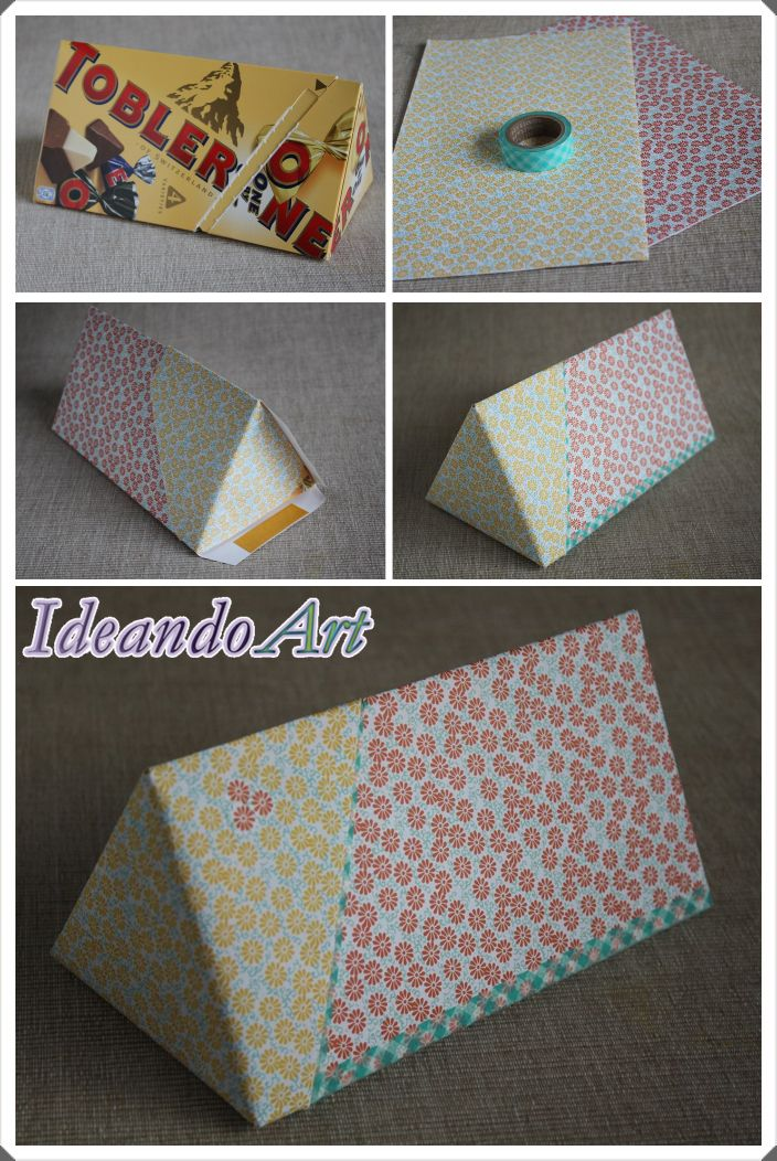 Tutorial para decorar una caja triangular by IdeandoArt