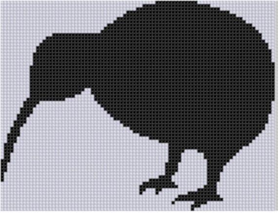 Kiwi Cross Stitch Pattern van MotherBeeDesigns op Etsy