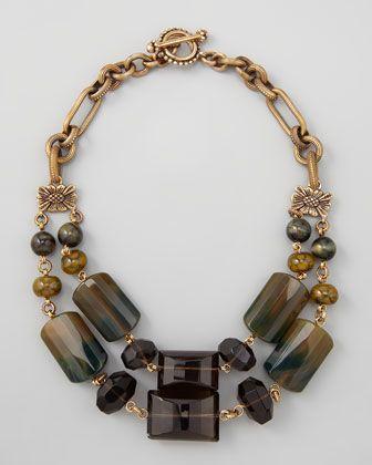 Stephen Dweck Green Agate Necklace - Love big gemstone jewelry www.tanyalochridge.com.