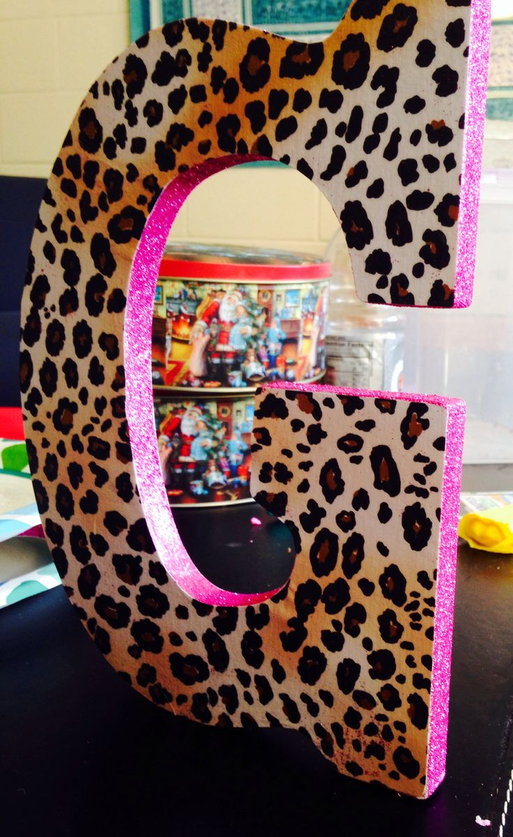 Cheetah Pink Glitter Letters