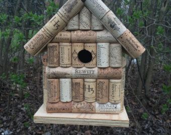 Wine Cork Birdhouse by EasyLifeInspirations on Etsy