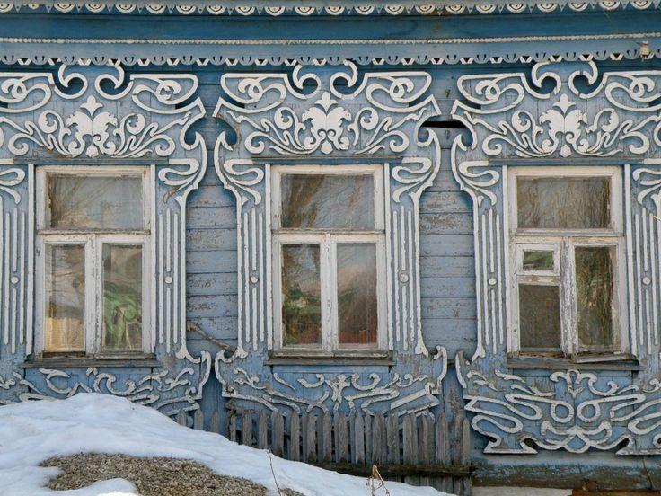 Владимирские наличники. Vladimir city