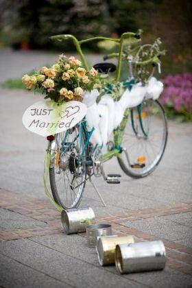 Fahrrad anstatt Auto! Just married