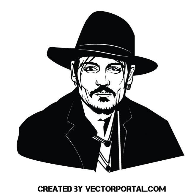 Actor johnny depp vector image shop dessin artistique dessin graphisme - Dessin johnny depp ...